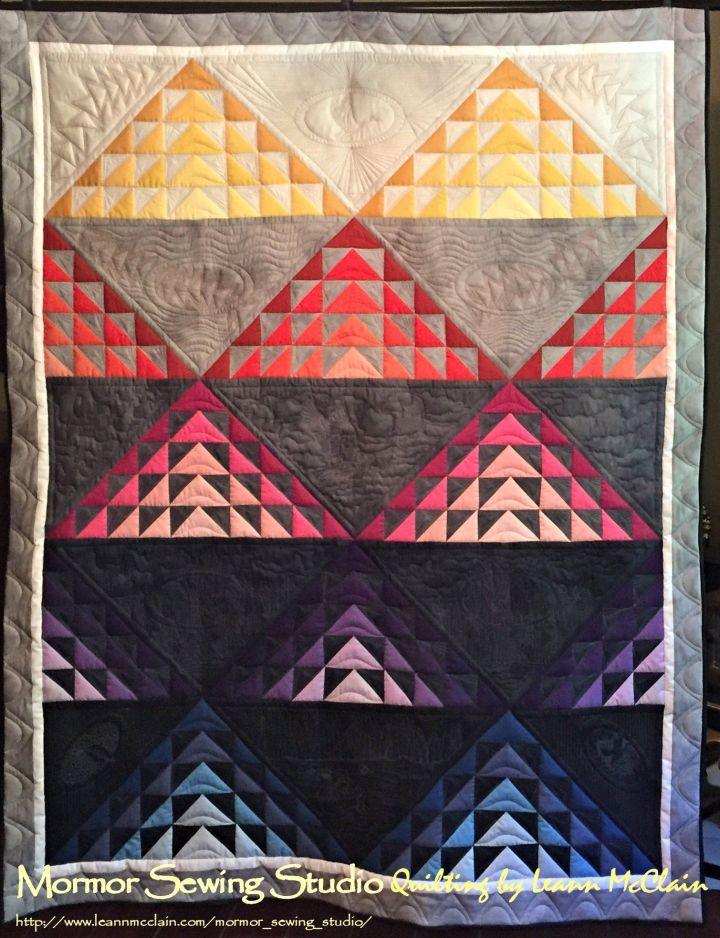 """Goosed"" exhibited at the 2018 Houston International Quilt Festival"